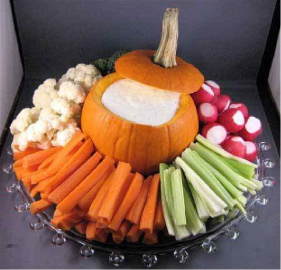 Serving suggestion for a veggie tray