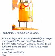 Sparkling Apple Juice Recipe