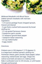 Mildewed Meatballs Recipe