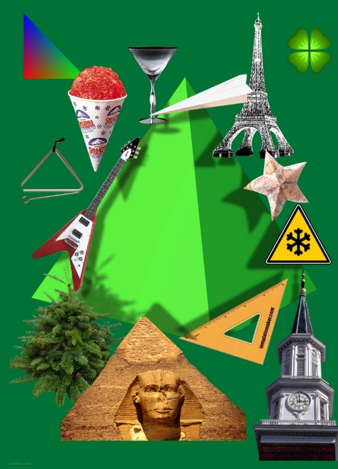 consciencious green triangle